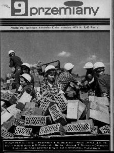Przemiany : miesięcznik społeczno-kulturalny, 1974, R.5,wrzesień