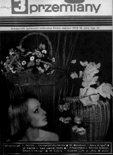 Przemiany : miesięcznik społeczno-kulturalny, 1975, R.6,marzec