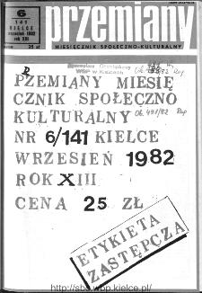 Przemiany : miesięcznik społeczno-kulturalny, 1982, R.13, czerwiec