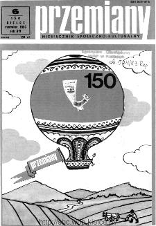 Przemiany : miesięcznik społeczno-kulturalny, 1983, R.14, czerwiec