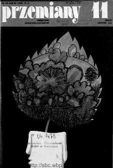 Przemiany : miesięcznik społeczno-kulturalny, 1984, R.15, listopad