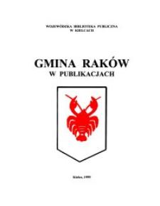Gmina Raków w publikacjach : zestawienie bibliograficzne