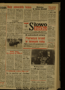 Słowo Ludu : dziennik Polskiej Zjednoczonej Partii Robotniczej, 1987 R.XXXVIII, nr 4