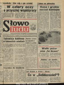 Słowo Ludu : dziennik Polskiej Zjednoczonej Partii Robotniczej, 1990 R.XLI, nr 178 (radomskie pismo codzienne)