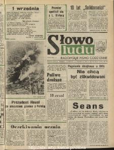 Słowo Ludu : dziennik Polskiej Zjednoczonej Partii Robotniczej, 1990 R.XLI, nr 203 (radomskie pismo codzienne)