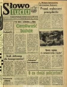 Słowo Ludu : dziennik Polskiej Zjednoczonej Partii Robotniczej, 1990 R.XLI, nr 256 (radomskie)