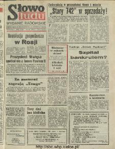 Słowo Ludu : dziennik Polskiej Zjednoczonej Partii Robotniczej, 1991 R.XLII, nr 266 (radomskie pismo codzienne)