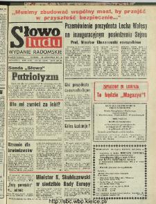 Słowo Ludu : dziennik Polskiej Zjednoczonej Partii Robotniczej, 1991 R.XLII, nr 273 (radomskie pismo codzienne)