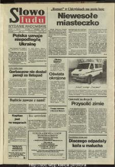 Słowo Ludu : dziennik Polskiej Zjednoczonej Partii Robotniczej, 1991 R.XLII, nr 279 (radomskie pismo codzienne)