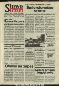 Słowo Ludu : dziennik Polskiej Zjednoczonej Partii Robotniczej, 1991 R.XLII, nr 280 (radomskie pismo codzienne)