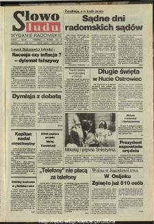 Słowo Ludu : dziennik Polskiej Zjednoczonej Partii Robotniczej, 1991 R.XLII, nr 281 (radomskie pismo codzienne)