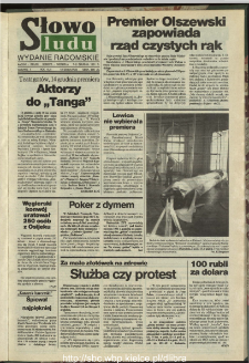Słowo Ludu : dziennik Polskiej Zjednoczonej Partii Robotniczej, 1991 R.XLII, nr 283 (radomskie pismo codzienne)