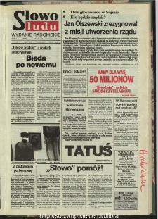Słowo Ludu : dziennik Polskiej Zjednoczonej Partii Robotniczej, 1991 R.XLII, nr 292 (radomskie pismo codzienne)