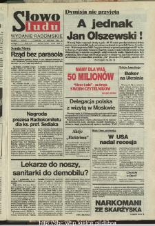 Słowo Ludu : dziennik Polskiej Zjednoczonej Partii Robotniczej, 1991 R.XLII, nr 293 (radomskie pismo codzienne)