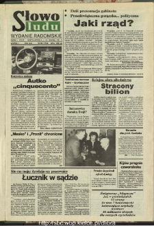 Słowo Ludu : dziennik Polskiej Zjednoczonej Partii Robotniczej, 1991 R.XLII, nr 295 (radomskie pismo codzienne)