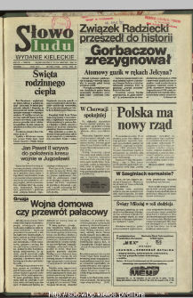 Słowo Ludu : dziennik Polskiej Zjednoczonej Partii Robotniczej, 1991 R.XLII, nr 297