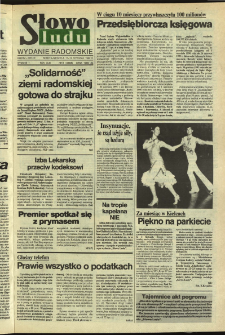 Słowo Ludu,1992 R.XLIII, nr 9 (wydanie radomskie)