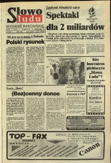 Słowo Ludu,1992 R.XLIII, nr 34 (wydanie radomskie)
