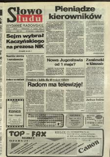 Słowo Ludu,1992 R.XLIII, nr 40 (wydanie radomskie)