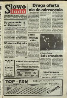 Słowo Ludu,1992 R.XLIII, nr 46 (wydanie radomskie)