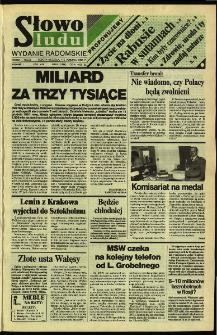 Słowo Ludu,1992 R.XLIII, nr 81 (wydanie radomskie)