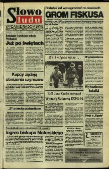 Słowo Ludu,1992 R.XLIII, nr 93 (wydanie radomskie)