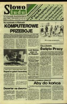 Słowo Ludu,1992 R.XLIII, nr 102 (wydanie radomskie)