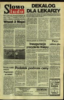 Słowo Ludu,1992 R.XLIII, nr 103 (wydanie radomskie)