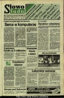 Słowo Ludu,1992 R.XLIII, nr 167 (wydanie radomskie)