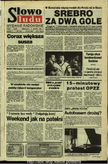 Słowo Ludu,1992 R.XLIII, nr 186 (wydanie radomskie)