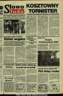 Słowo Ludu,1992 R.XLIII, nr 191 (wydanie radomskie)