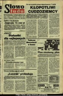 Słowo Ludu,1992 R.XLIII, nr 197 (wydanie radomskie)