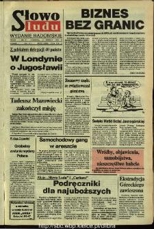 Słowo Ludu,1992 R.XLIII, nr 200 (wydanie radomskie)