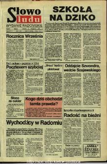 Słowo Ludu,1992 R.XLIII, nr 205 (wydanie radomskie)