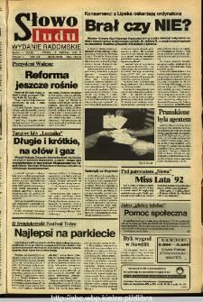 Słowo Ludu,1992 R.XLIII, nr 216 (wydanie radomskie)