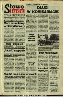 Słowo Ludu,1992 R.XLIII, nr 221 (wydanie radomskie)
