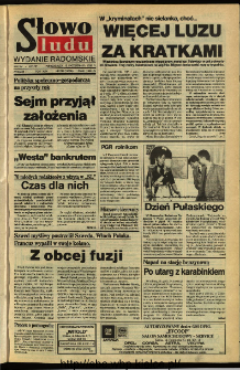 Słowo Ludu,1992 R.XLIII, nr 239 (wydanie radomskie)
