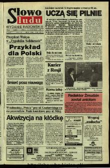 Słowo Ludu,1992 R.XLIII, nr 241 (wydanie radomskie)