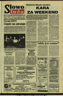 Słowo Ludu,1992 R.XLIII, nr 247 (wydanie radomskie)