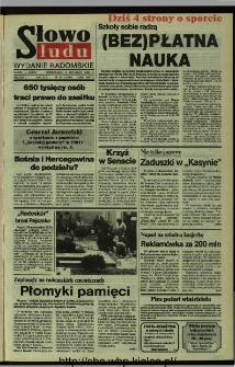 Słowo Ludu,1992 R.XLIII, nr 257 (wydanie radomskie)