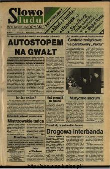 Słowo Ludu,1992 R.XLIII, nr 273 (wydanie radomskie)