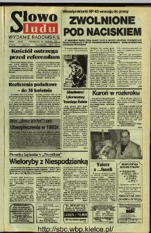 Słowo Ludu,1992 R.XLIII, nr 274 (wydanie radomskie)