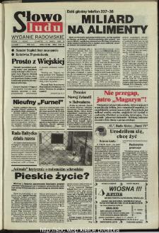 Słowo Ludu,1993 R.XLIV, nr 64 (wydanie radomskie)