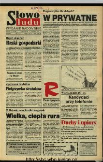 Słowo Ludu,1993 R.XLIV, nr 182 (wydanie radomskie)