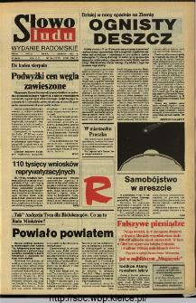 Słowo Ludu,1993 R.XLIV, nr 184 (wydanie radomskie)