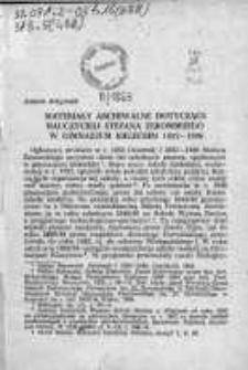 Materiały archiwalne dotyczące nauczycieli Stefana Żeromskiego w gimnazjum Kieleckim 1882-1886