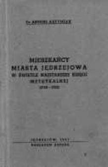 Mieszkańcy miasta Jędrzejowa w świetle najstarszej księgi metrykalnej (1743-1752)