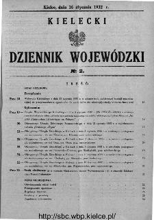 Kielecki Dziennik Wojewódzki 1932, nr 2