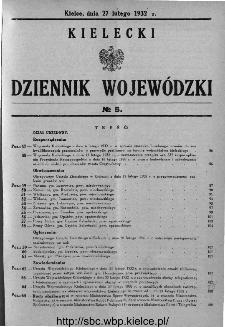 Kielecki Dziennik Wojewódzki 1932, nr 5
