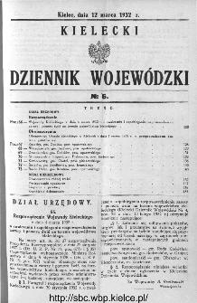 Kielecki Dziennik Wojewódzki 1932, nr 6
